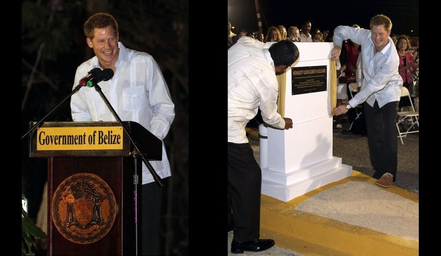 Inauguration du Boulevard de la Reine Elizabeth, à Belmopan