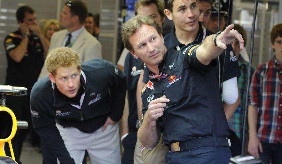 Avec Chris Horner, le patron de l'écurie Red Bull