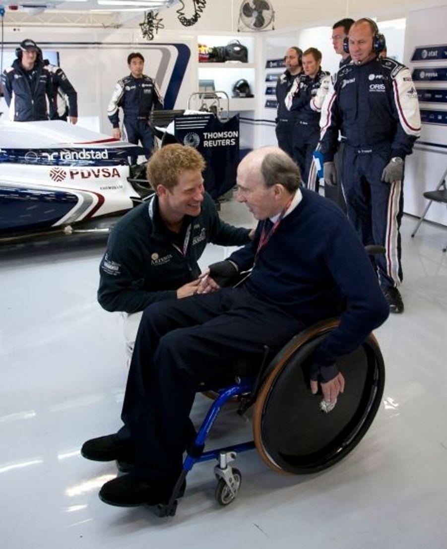 Avec Frank Williams, le patron de l'écurie Williams