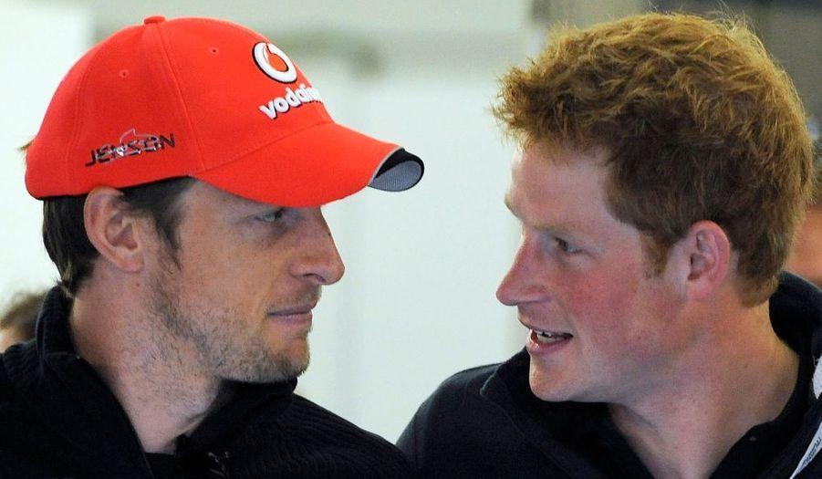Avec Jenson Button