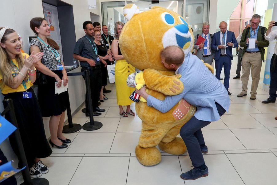 Le prince Harry et Austin, le 25 juillet 2019.