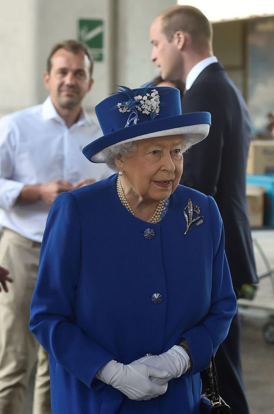 La reine Elizabeth II et le prince William à Londres le 16 juin 2017
