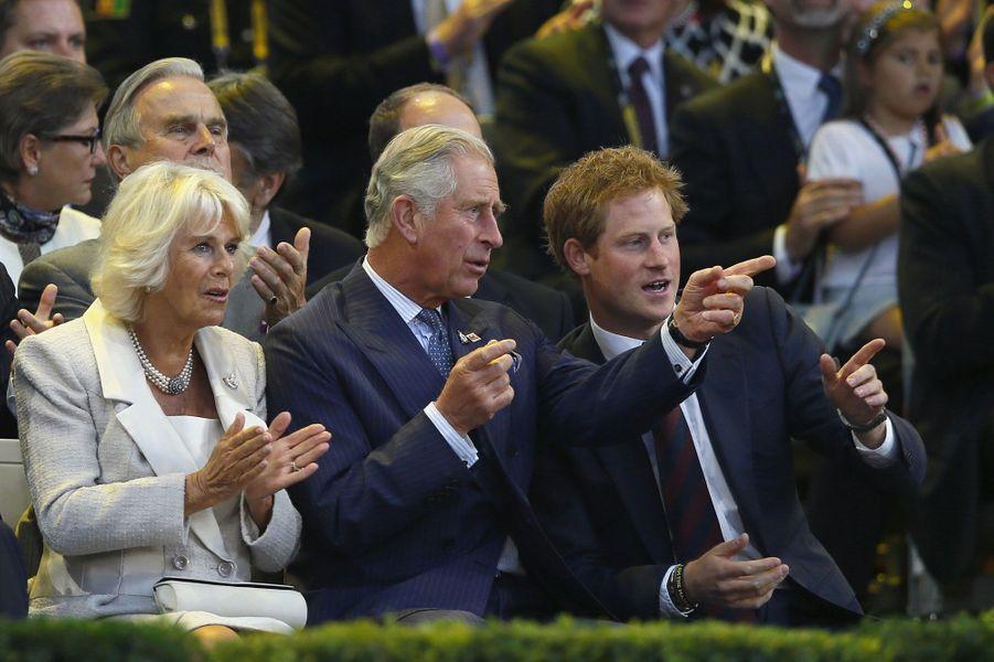 Camilla, Charles et Harry