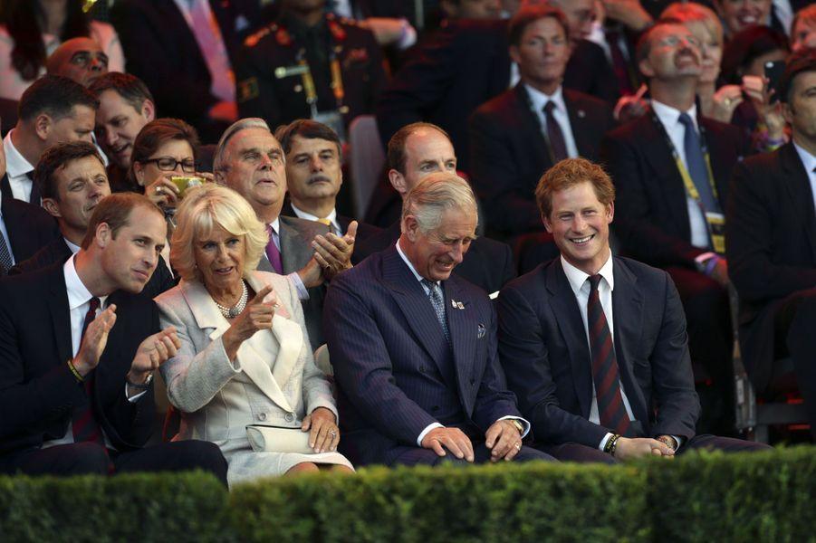 William, Camilla, Charles et Harry