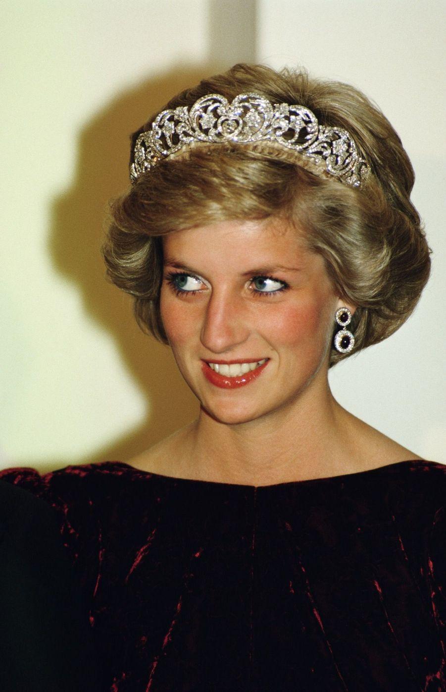 La princesse Diana, photographiée par Jayne Fincher, à Canberra en novembre 1985.