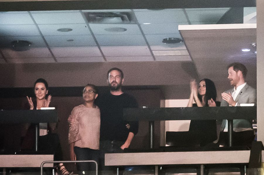 Jessica Mulroney, Doria Ragland, Markus Anderson, Meghan Markle et le prince Harryaux Invictus Games à Toronto en septembre 2017