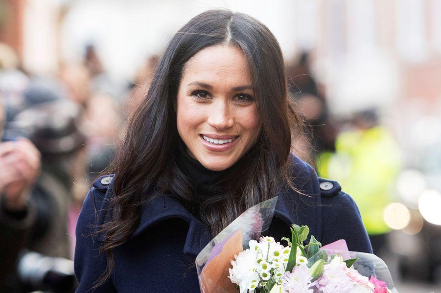 Premier déplacement officiel en fiancée du prince Harry le 1er décembre 2017.