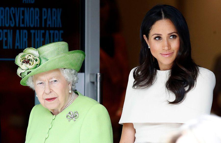 Auprès de la reine Elizabeth le 14 juin 2018