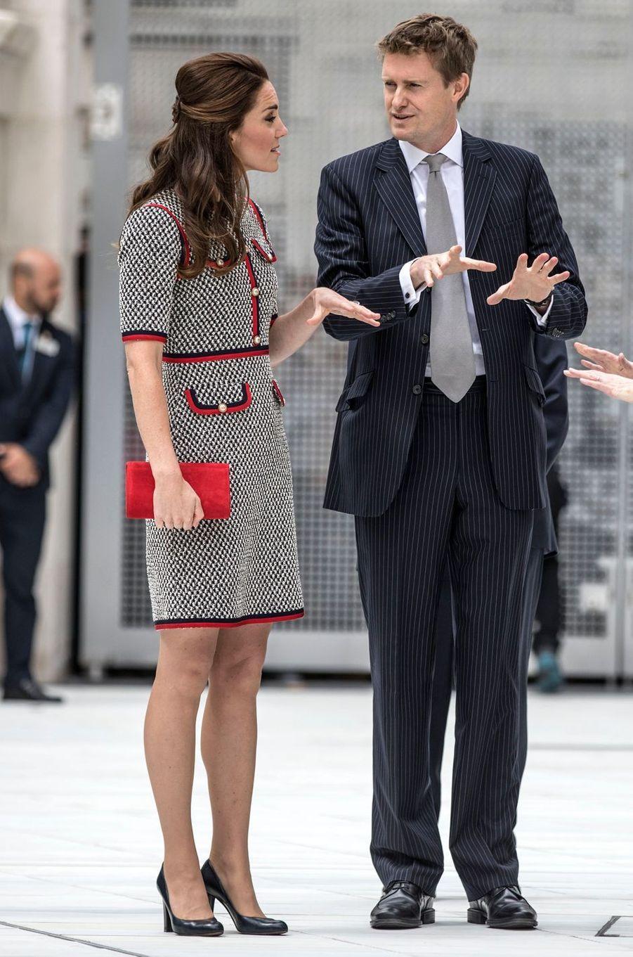La duchesse de Cambridge, née Kate Middleton, à Londres le 29 juin 2017