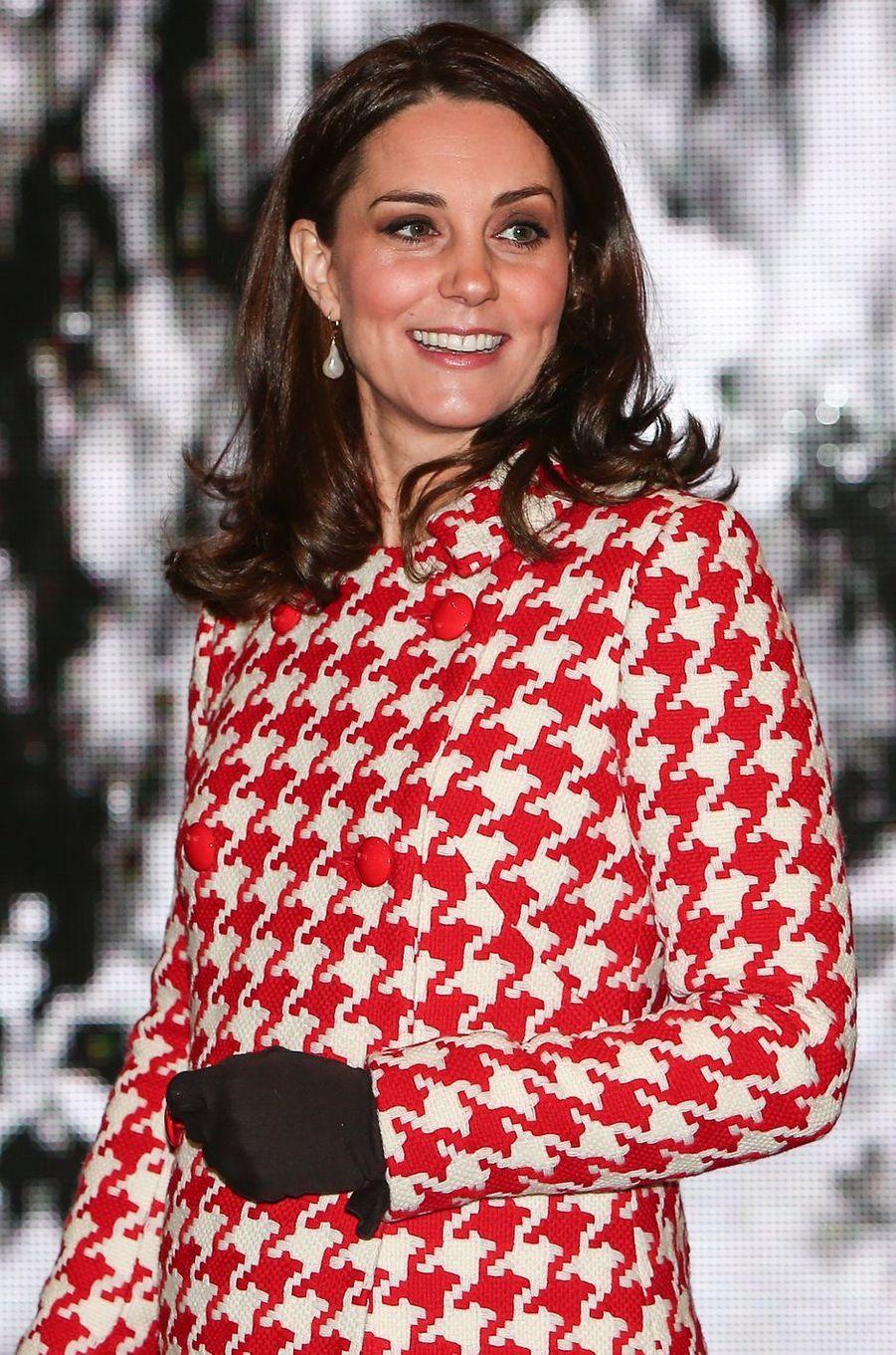 Kate Middleton à Stockholm, le 31 janvier 2018