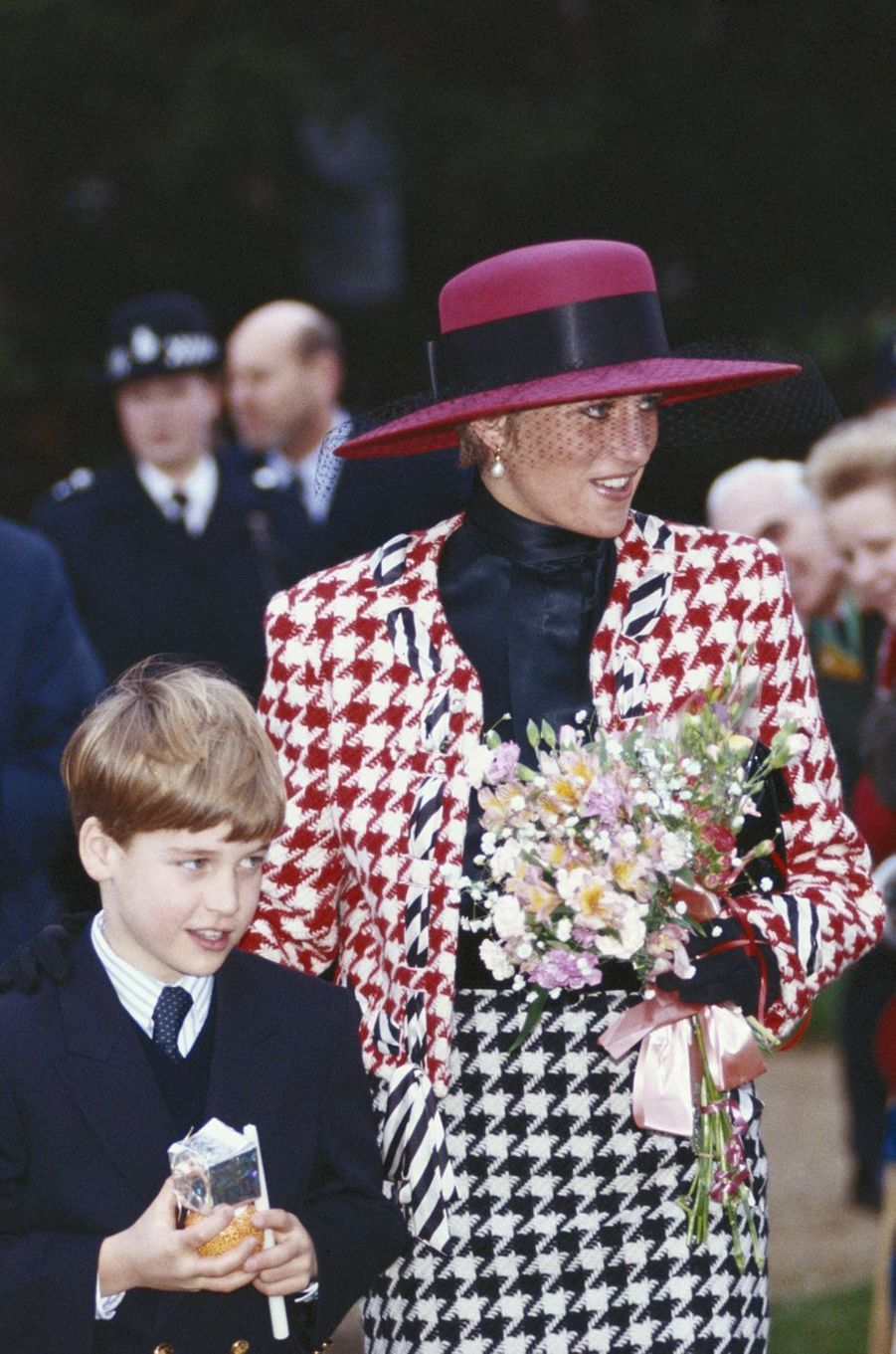Lady Diana à Sandringham, le 23 décembre 1990
