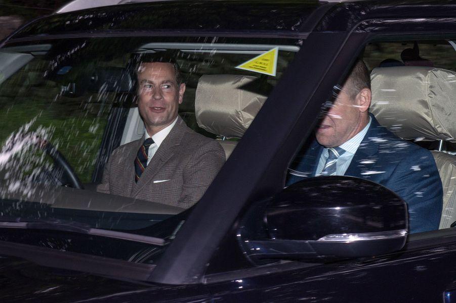 Le prince Edward et Mike Tindall à Crathie Kirk le 20 août 2017
