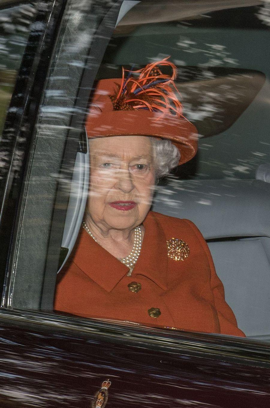La reine Elizabeth II à Crathie Kirk le 20 août 2017