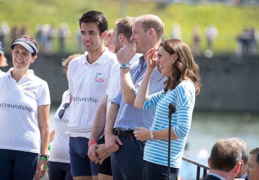 Kate Middleton Et William Font De L'aviron À Heidelberg En Allemagne 1