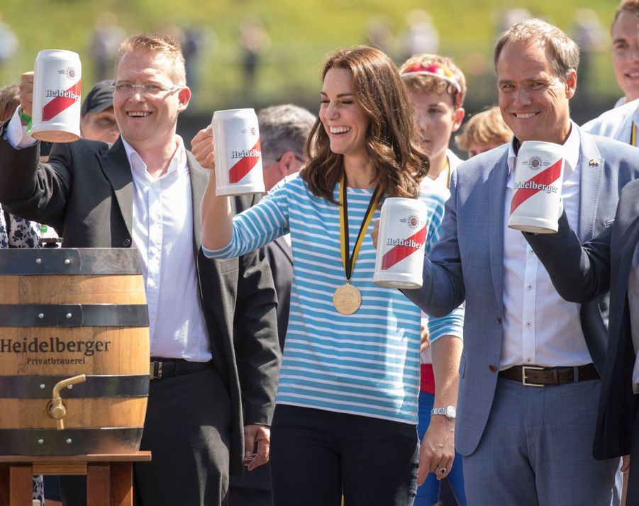 Kate Middleton Et William Font De L'aviron À Heidelberg En Allemagne 13
