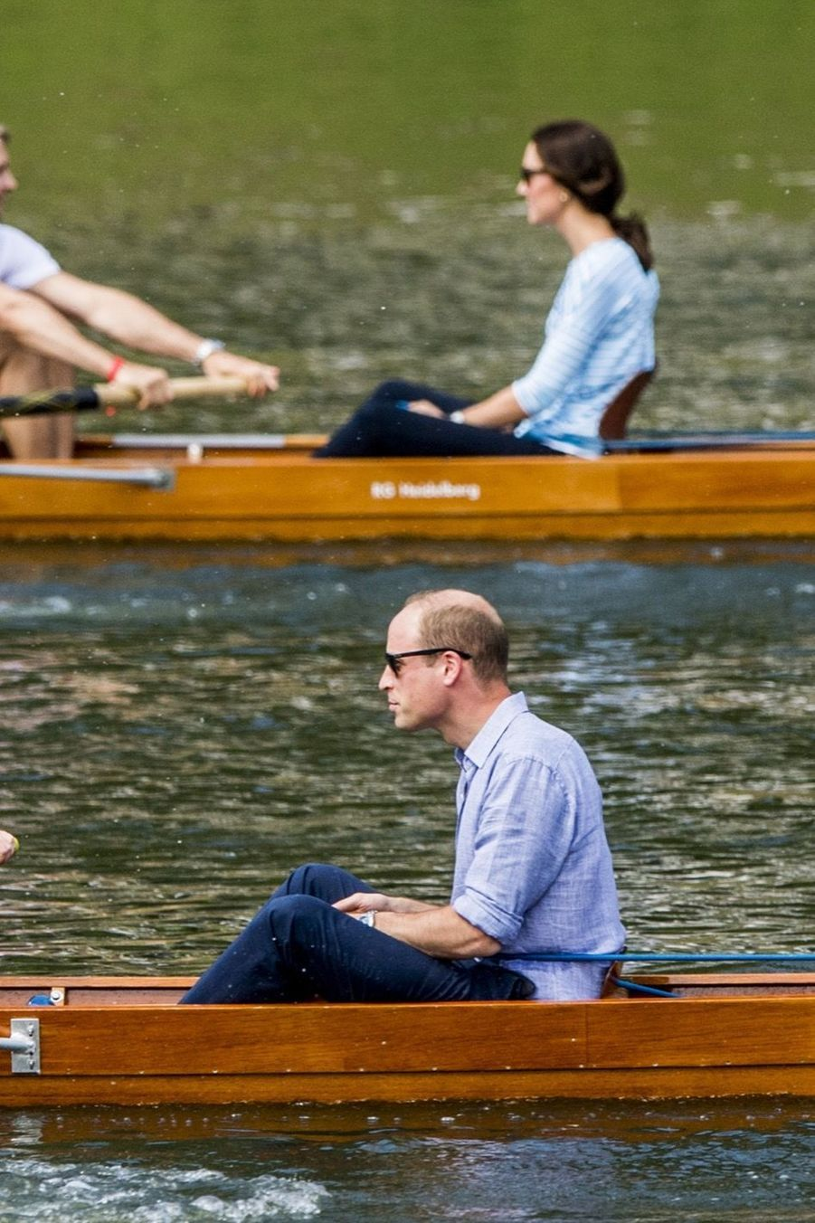 Kate Middleton Et William Font De L'aviron À Heidelberg En Allemagne 15