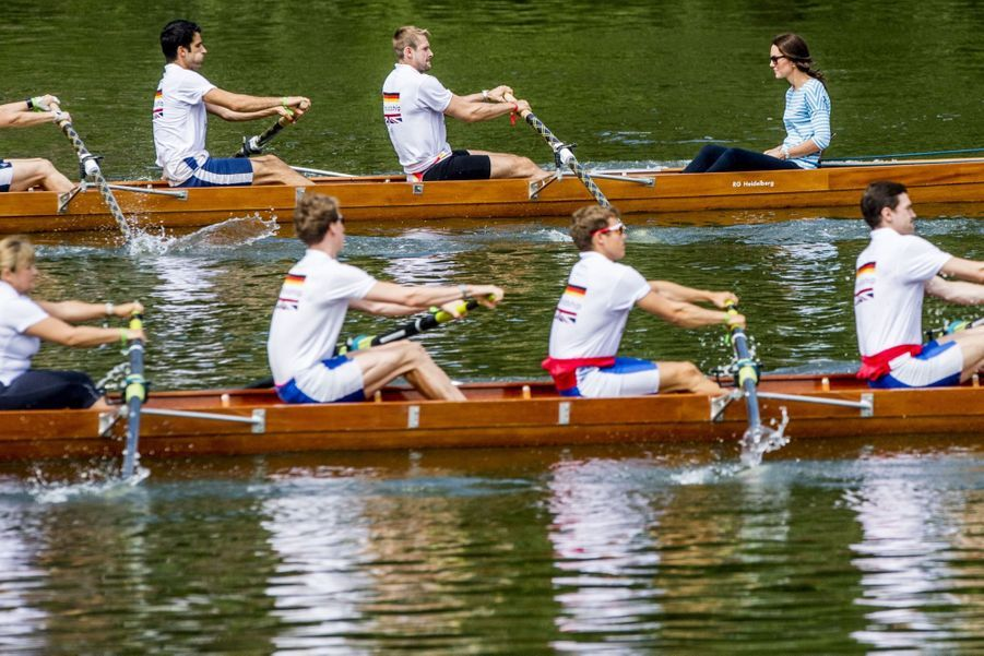 Kate Middleton Et William Font De L'aviron À Heidelberg En Allemagne 16