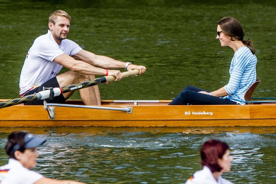 Kate Middleton Et William Font De L'aviron À Heidelberg En Allemagne 17
