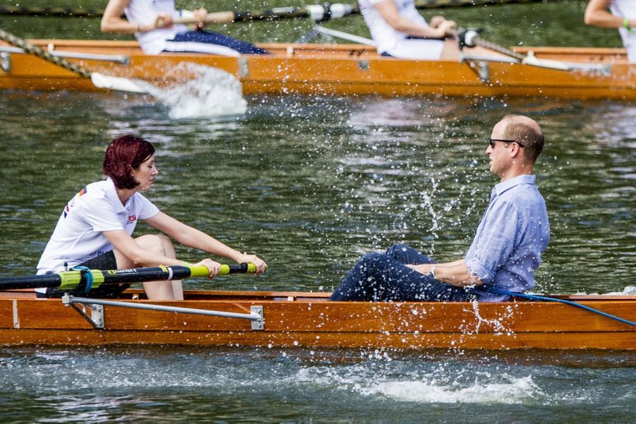 Kate Middleton Et William Font De L'aviron À Heidelberg En Allemagne 18