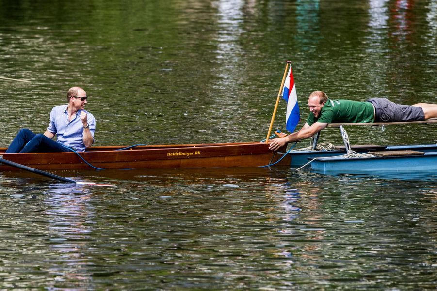 Kate Middleton Et William Font De L'aviron À Heidelberg En Allemagne 22