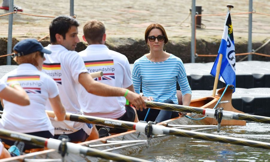 Kate Middleton Et William Font De L'aviron À Heidelberg En Allemagne 26