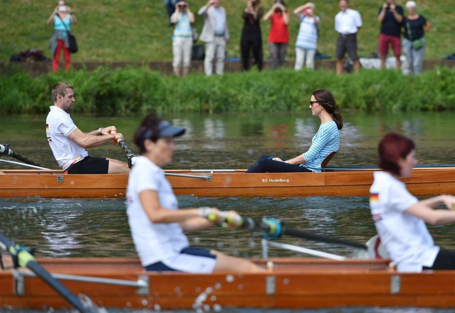 Kate Middleton Et William Font De L'aviron À Heidelberg En Allemagne 27