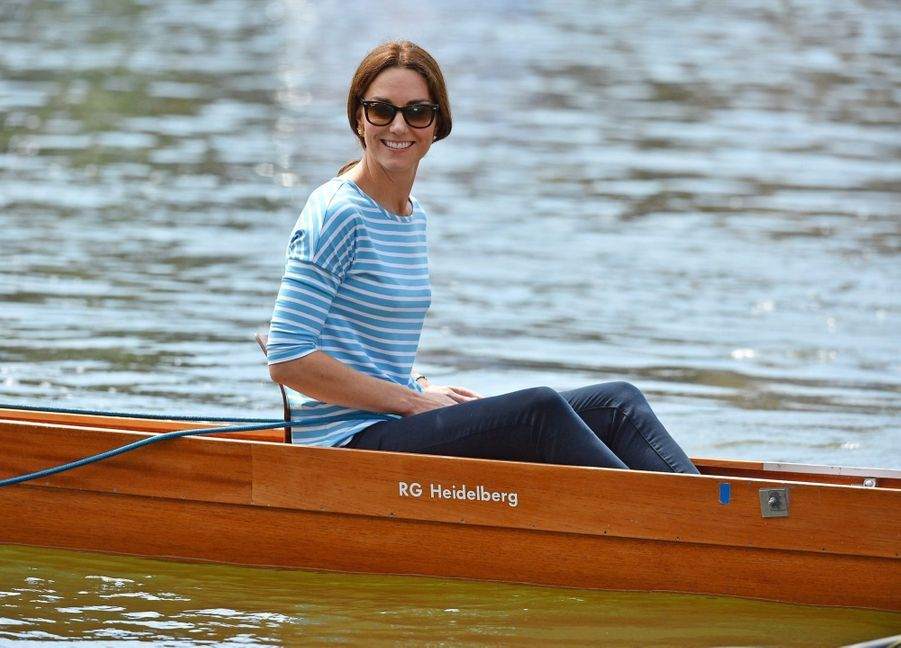 Kate Middleton Et William Font De L'aviron À Heidelberg En Allemagne 31