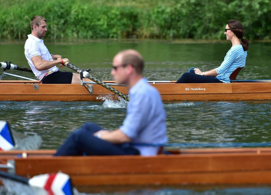 Kate Middleton Et William Font De L'aviron À Heidelberg En Allemagne 32