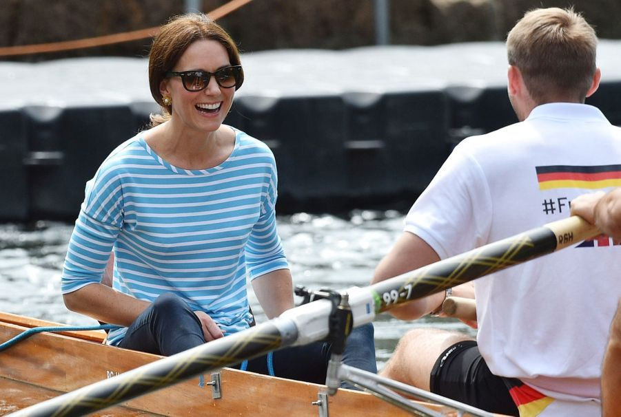 Kate Middleton Et William Font De L'aviron À Heidelberg En Allemagne 36