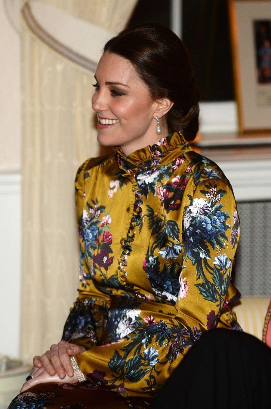 Kate Middleton à Stockholm, le 30 janvier 2018