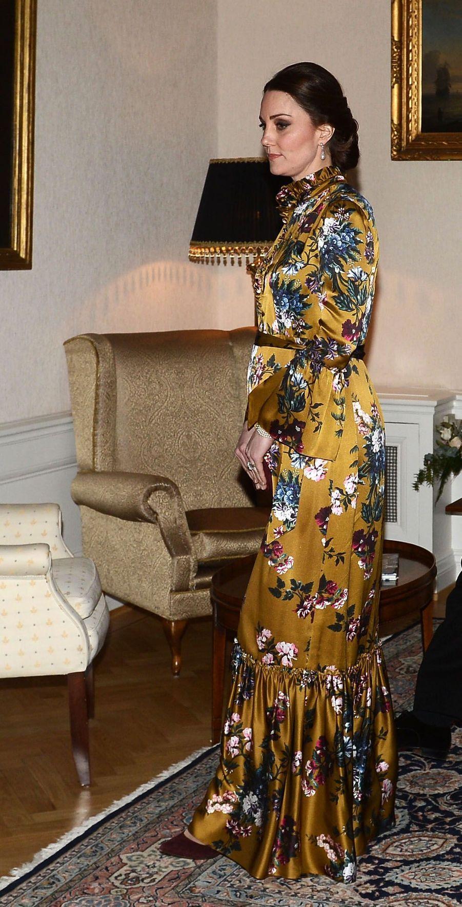 La duchesse Catherine de Cambridge à Stockholm, le 30 janvier 2018