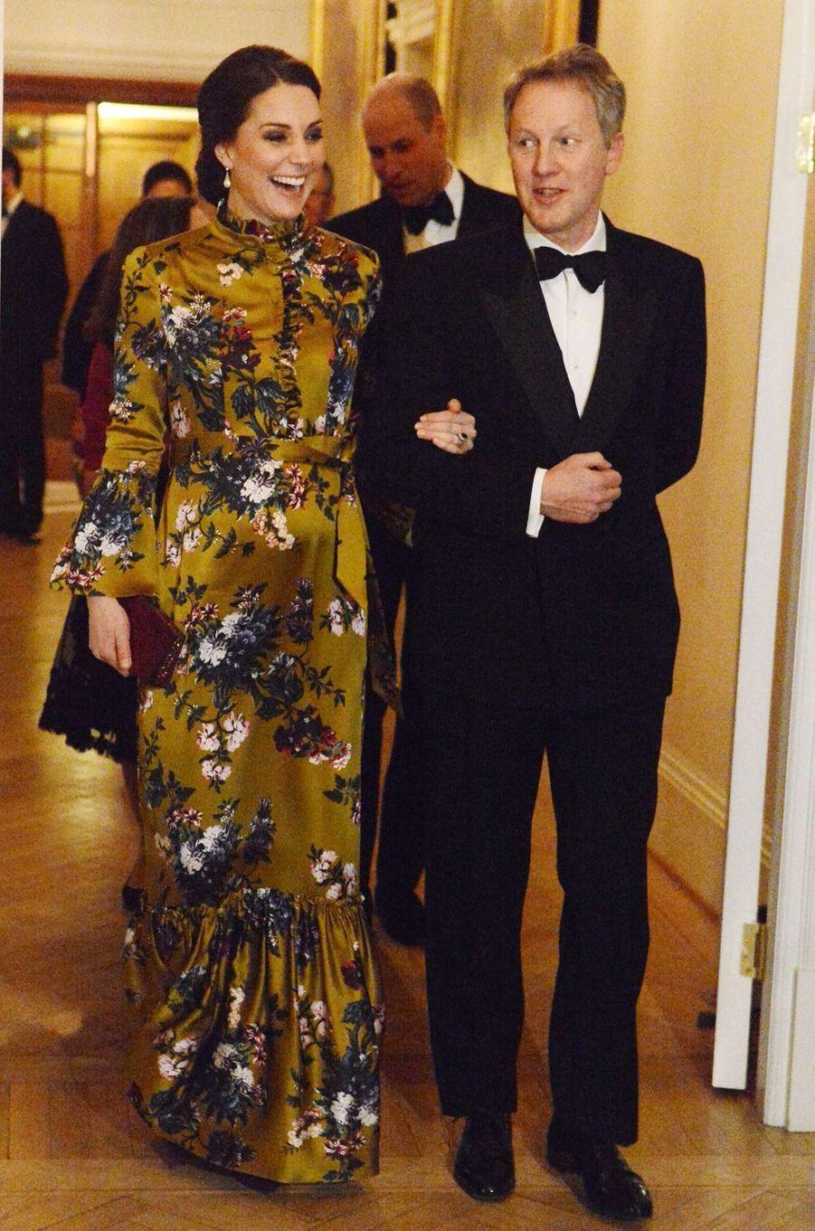 La duchesse de Cambridge à Stockholm, le 30 janvier 2018