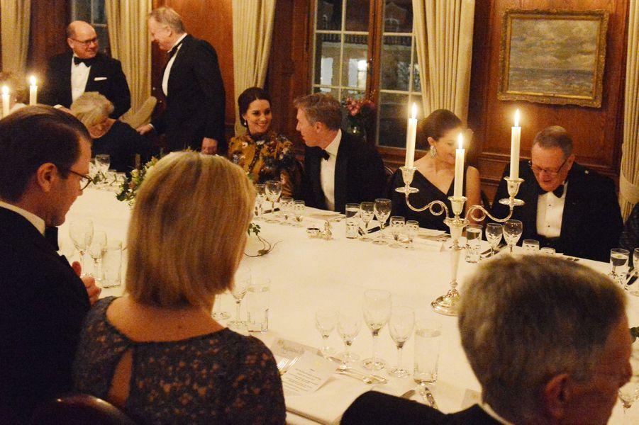 La duchesse Catherine de Cambridge et la princesse Victoria de Suède à Stockholm, le 30 janvier 2018