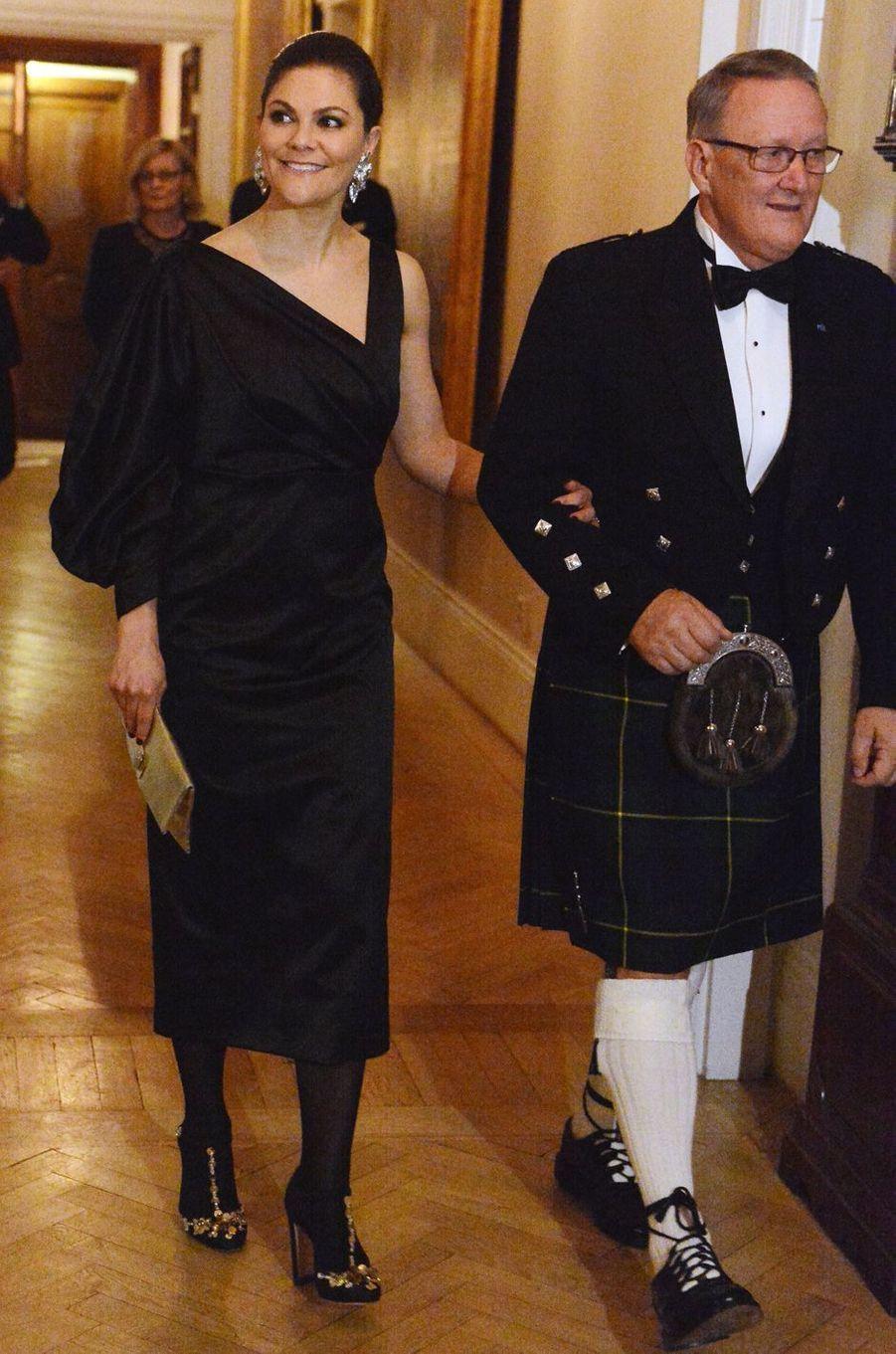 La princesse Victoria de Suède à Stockholm, le 30 janvier 2018
