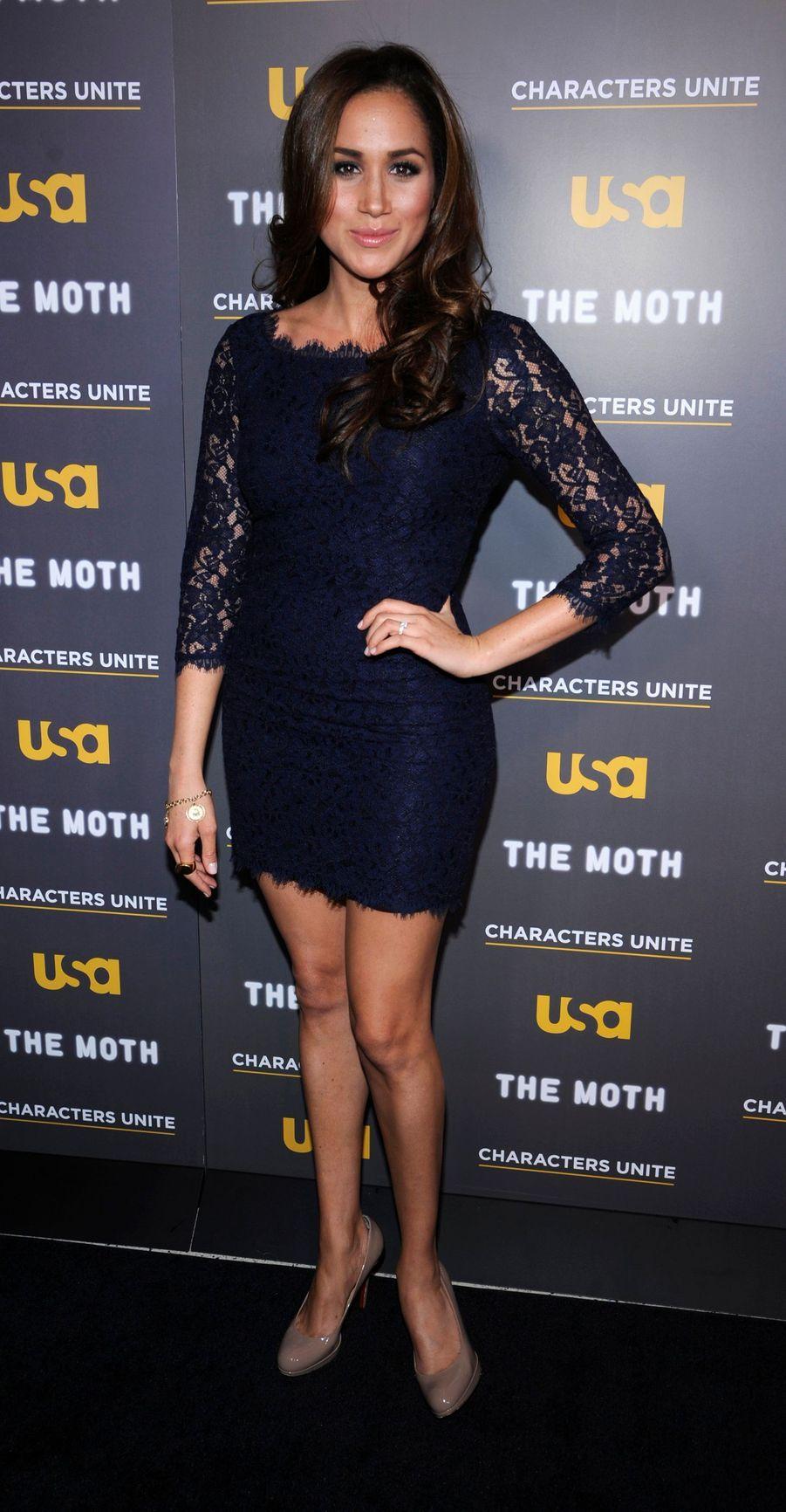 Meghan Markle dans une robe de Diane von Furstenberg à Hollywood, le 15 février 2012