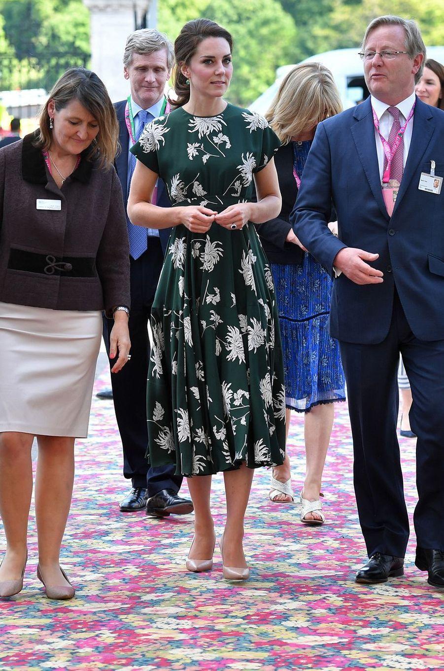 La duchesse Catherine de Cambridge au Chelsea Flower Show à Londres le 22 mai 2017