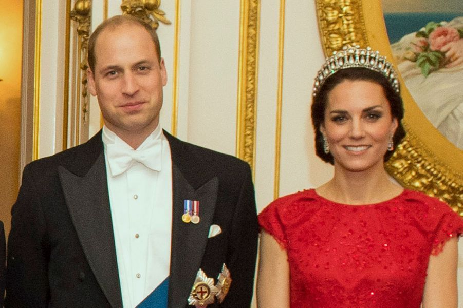 William et Kate à Buckingham Palace à Londres, le 8 décembre 2016