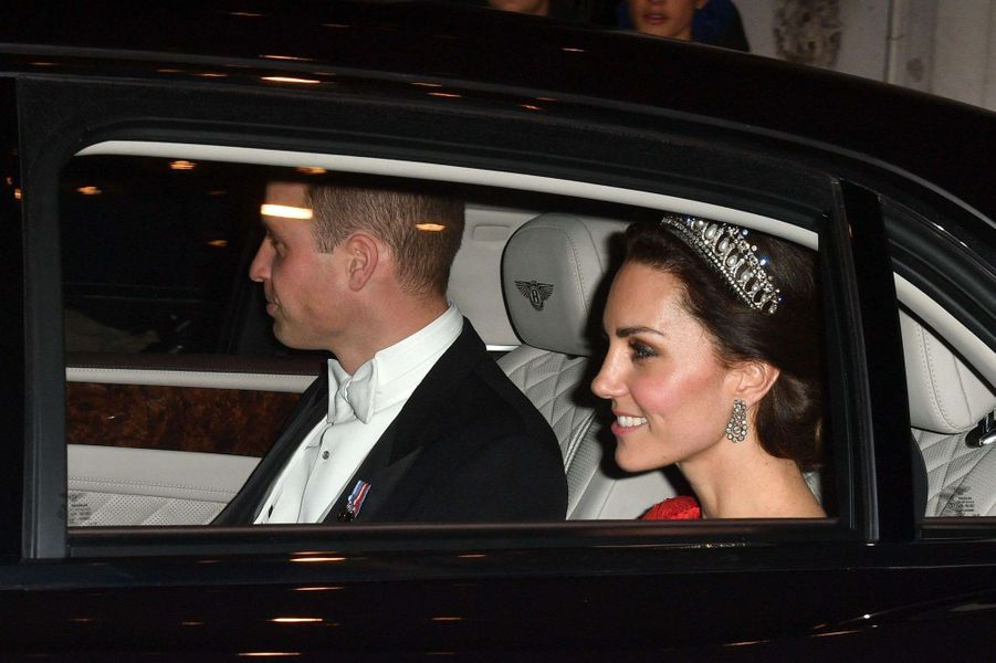 Le prince William et la duchesse Catherine de Cambridge à Londres, le 8 décembre 2016