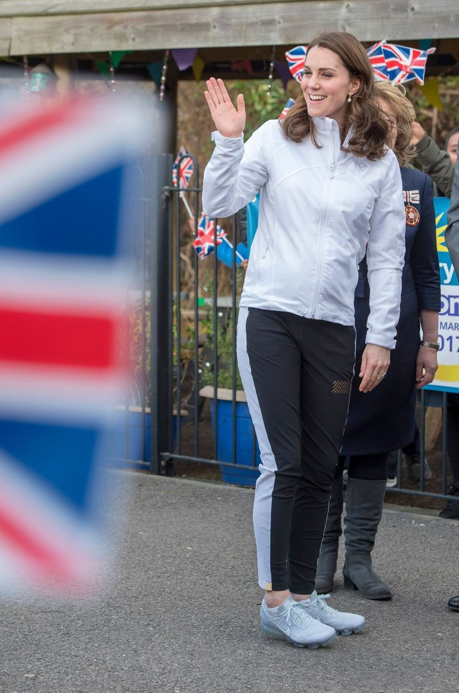 La duchesse de Cambridge, enceinte, dans le quartier de Mitcham à Londres, le 18 janvier 2018