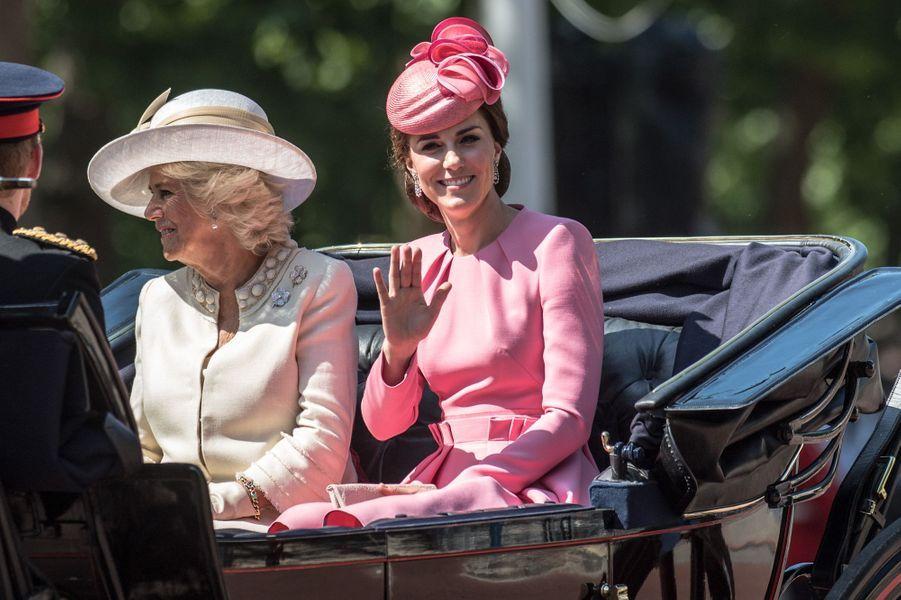 Camilla Parker-Bowles et Kate Middleton à Londres, le 17 juin 2017