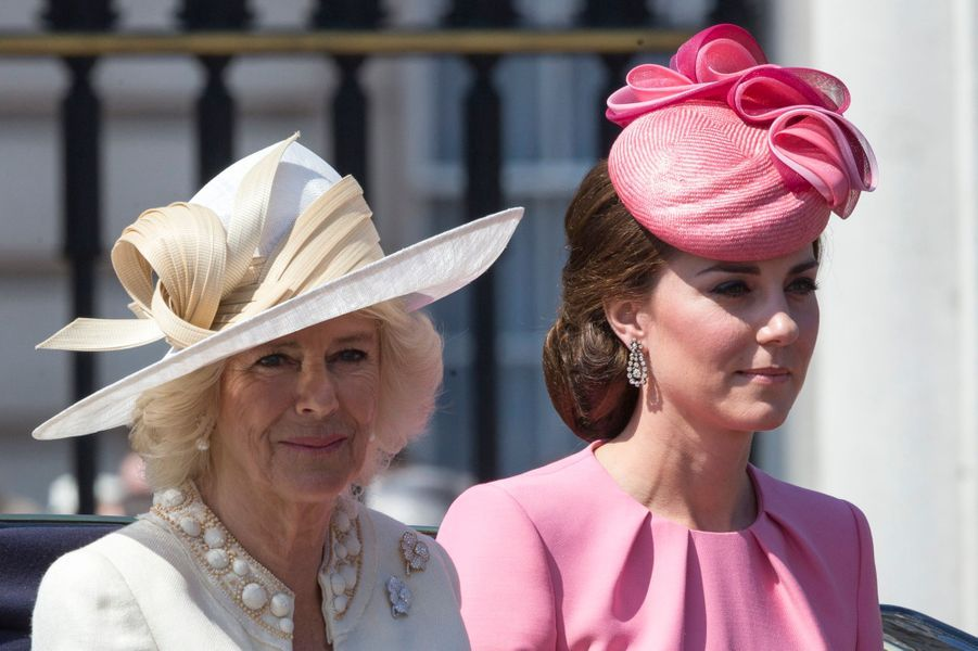 La duchesse Camilla de Cornouailles et la duchesse Catherine de Cambridge à Londres, le 17 juin 2017