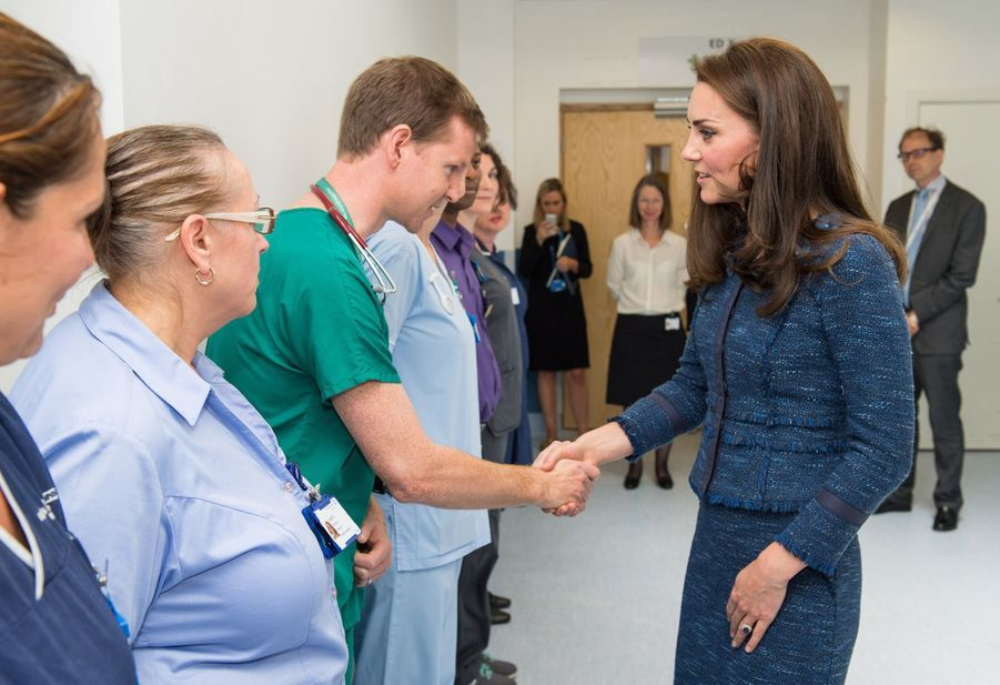 Kate Middleton En Visite Au Kings College Hospital, Le 12 Juin 2