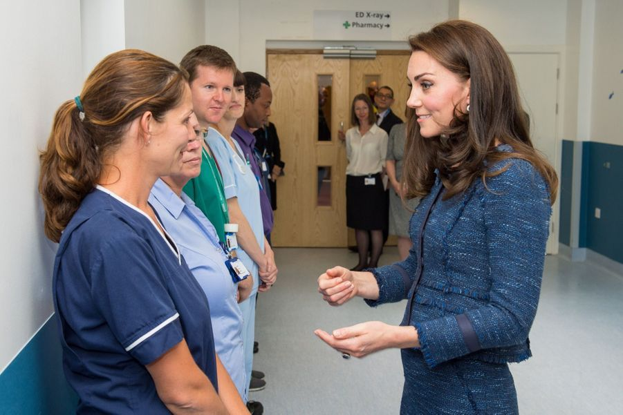 Kate Middleton En Visite Au Kings College Hospital, Le 12 Juin 3