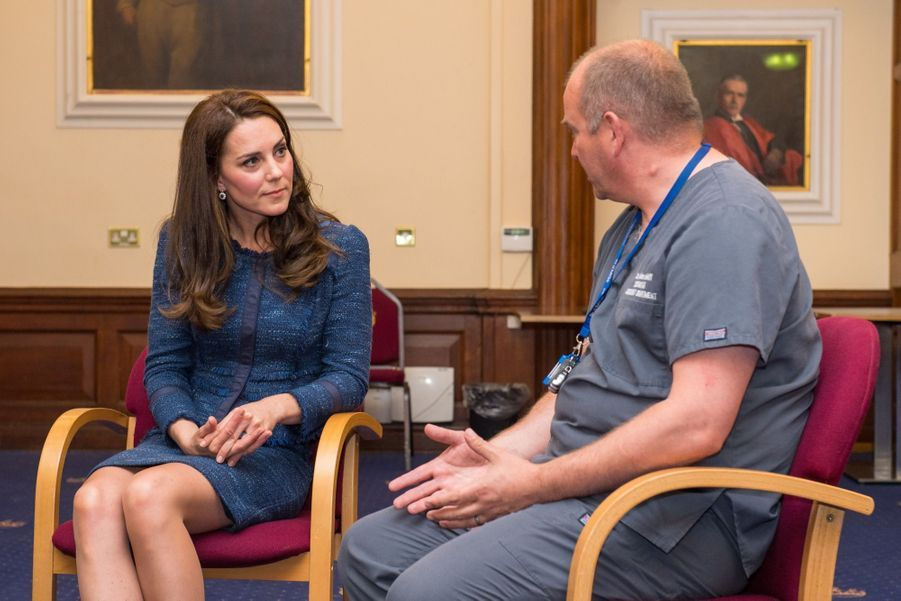 Kate Middleton En Visite Au Kings College Hospital, Le 12 Juin 7