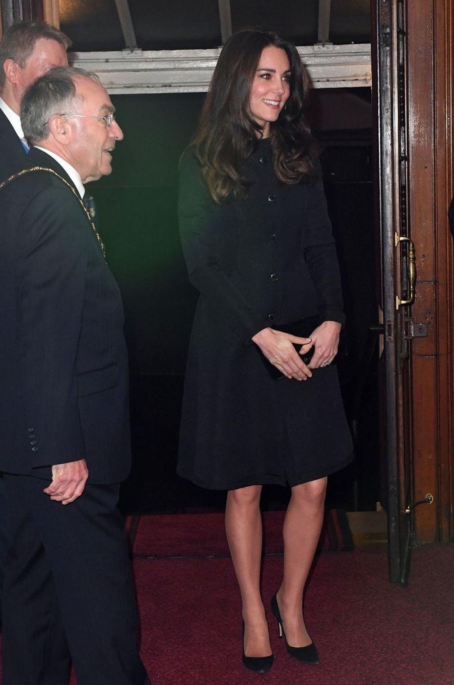La duchesse Catherine de Cambridge à Londres, le 12 novembre 2016