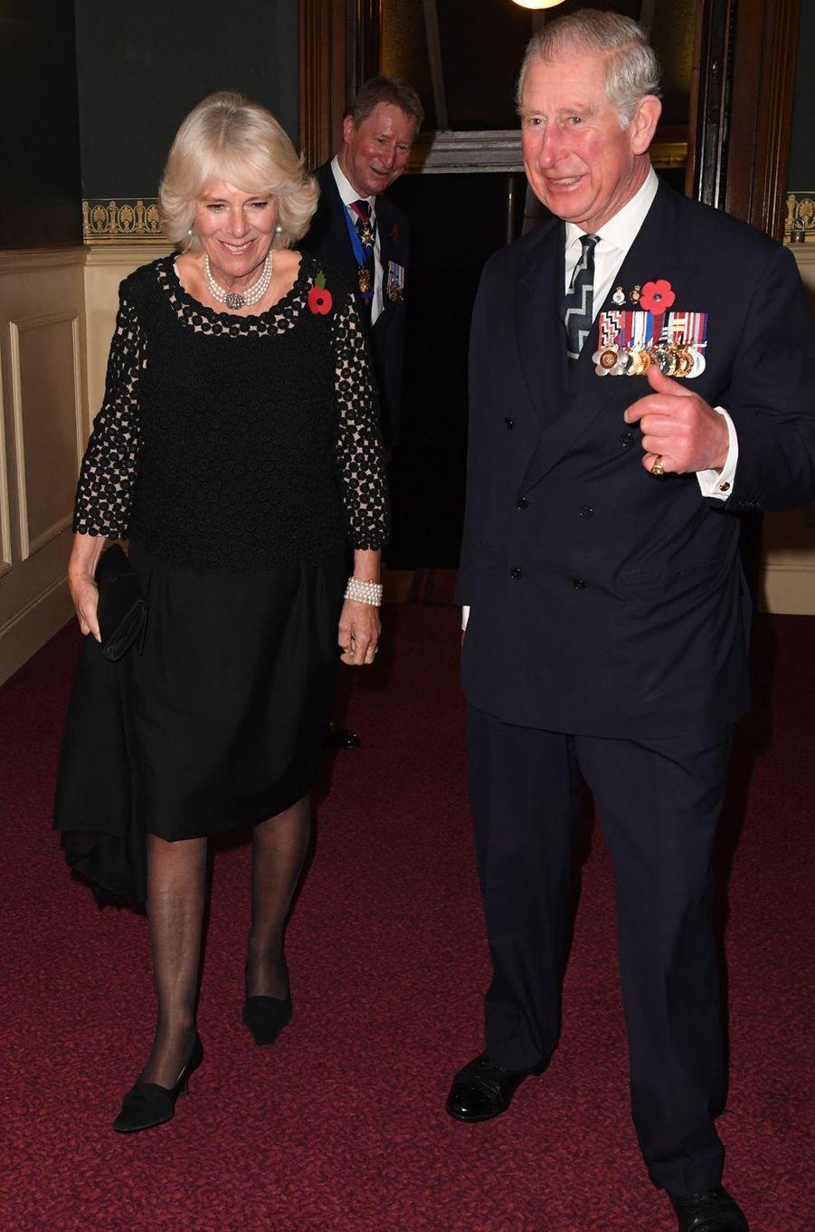 Le prince Charles et la duchesse de Cornouailles Camilla à Londres, le 12 novembre 2016