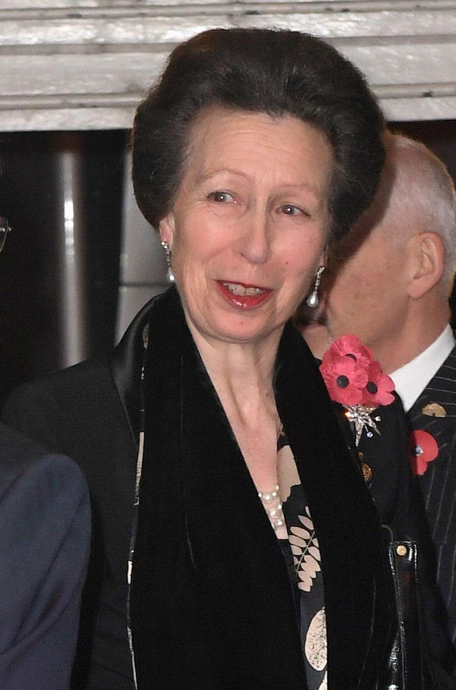 La princesse Anne à Londres, le 12 novembre 2016