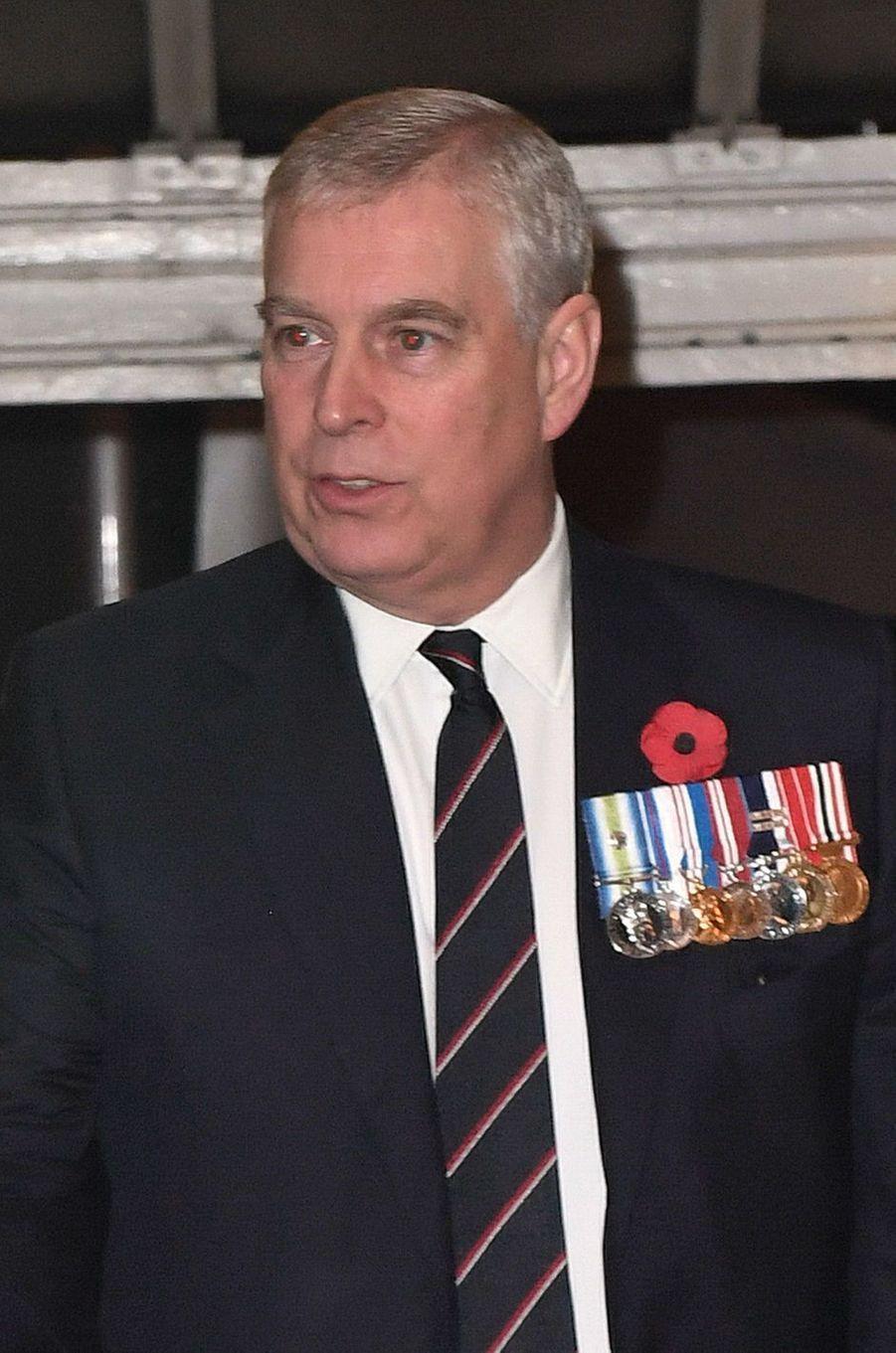 Le prince Andrew à Londres, le 12 novembre 2016