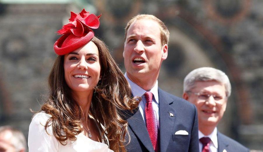 Le couple était accompagné du Premier ministre canadien, Stephen Harper.
