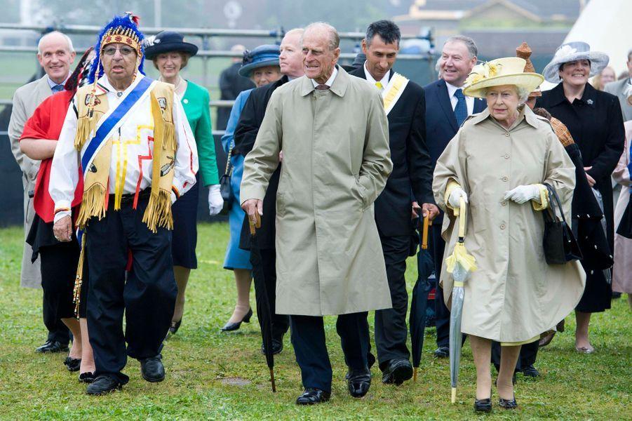 La reine Elizabeth II avec le prince Philip au Canada, le 28 juin 2010